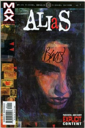 Alias #1 Dynamic Forces Signed Brian Bendis DF COA 1st Appearance Jessica Jones Marvel comic book